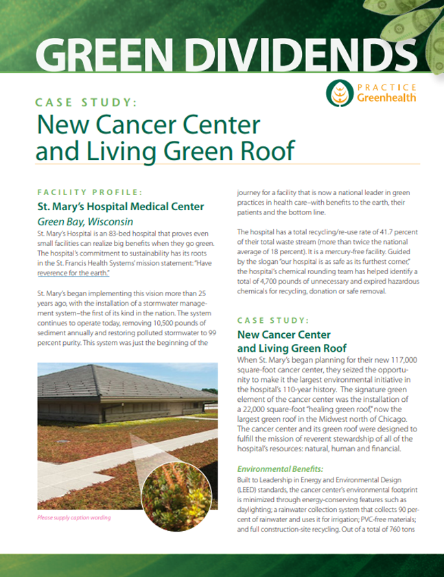Case Study: New Cancer Center and Living Green Roof