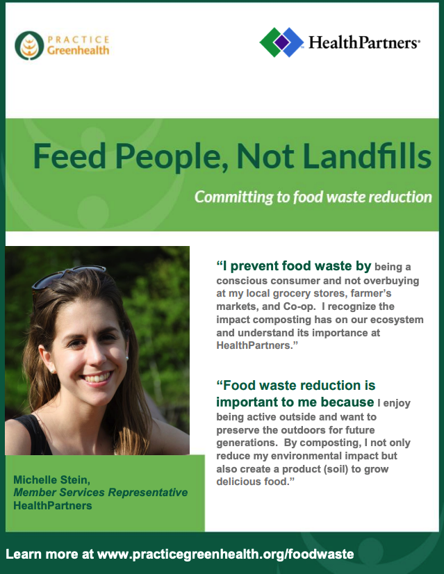 Feed people, not landfills poster sample