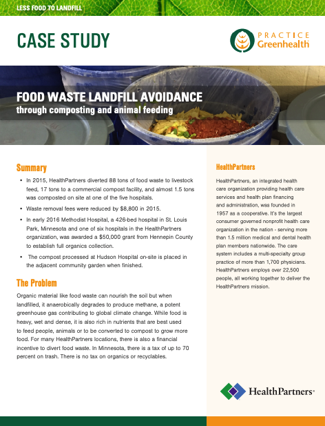 HealthPartners food waste case study