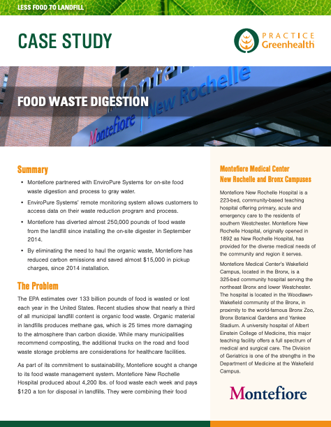 Montefiore food waste case study