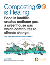 Less food to landfill poster: Methane