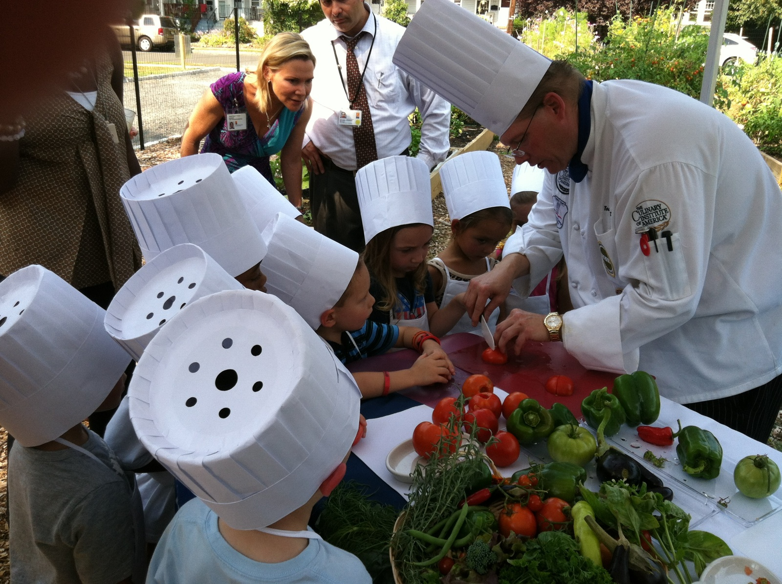 Overlook Medical Center chef and kids