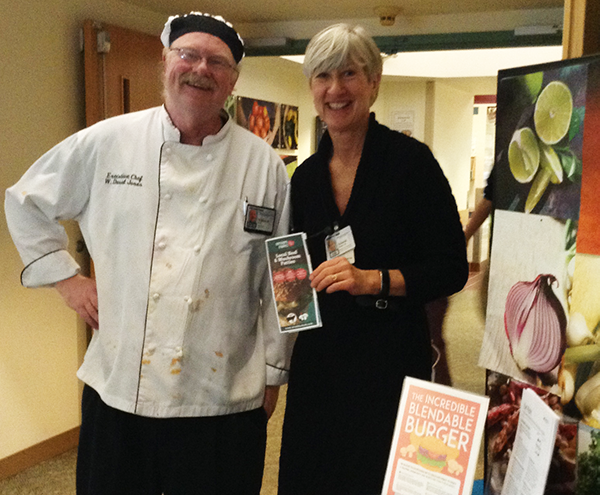 Deborah P. Keane and chef at Dartmouth-Hitchcock