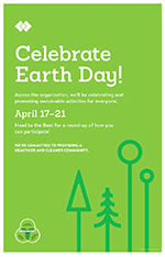 HealthPartners Earth Day poster