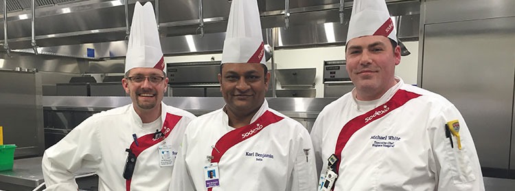 Chef White and colleagues at Regions Hospital